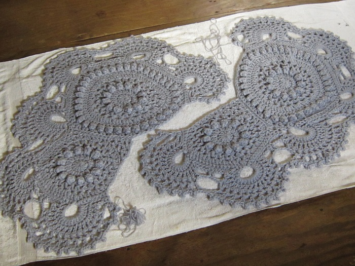 crochet, blocking