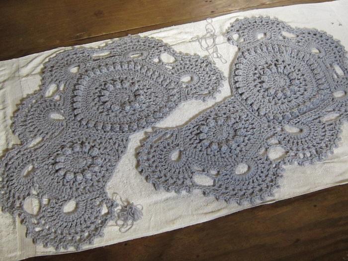 crochet, blocking