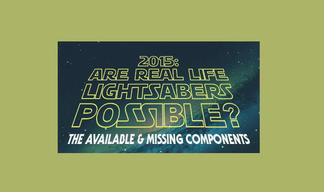 Are real-life lightsabers possible?