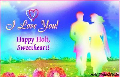 Romantic Holi 2016 Greetings