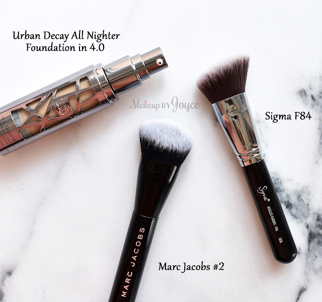 Urban Decay All Nighter Liquid Foundation vs Naked Skin Weightless Ultra Definition Comparison Review