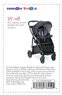 15 off one regular priced car seat stroller or travel get discounts of 20 or more online and in store with babies r us printable coupons