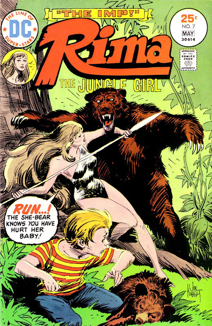 Rima the Jungle Girl v1 #7 dc bronze age comic book cover art by Joe Kubert