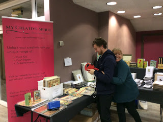 Harry and Cathy at the Newbury Papercraft Show Jan 2018
