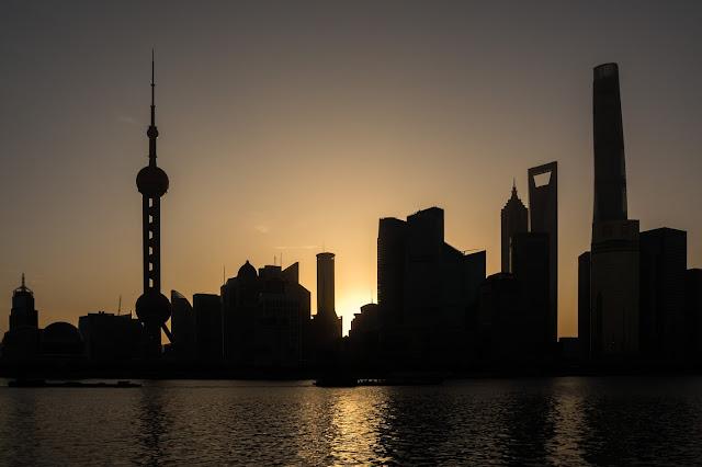 Shanghai, Šanghaj, Pudong, východ slunce, sunrise, čína, china