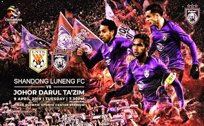 Live Streaming Shandong Luneng VS JDT AFC Champion League 9.4.2019