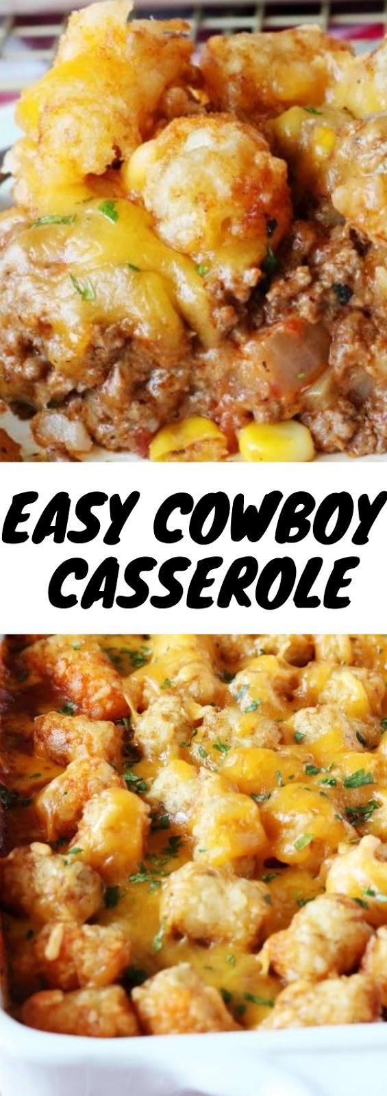Easy Cowboy Casserole #dinner #american #dietfood #easy #cowboy #casserole