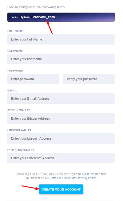 Регистрация в Hash World 2