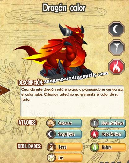 imagen de las caracteristicas del dragon calor