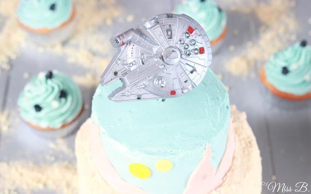 Star Wars Geburtstagstorte [Rasender Falke]