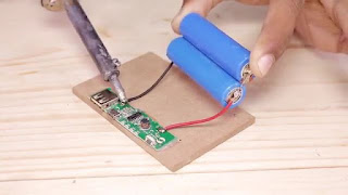 membuat sendiri power bank plus speaker mini dari papan MDF