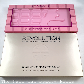 Makeup Revolution, Fortune Favours The Brave, Pink Fizz Palette, Chocolate Bar Palette
