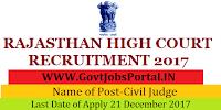 High Court Rajasthan Recruitment 2017– 35 Civil Judge