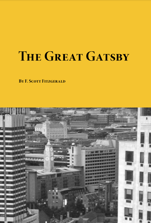 THE GREAT GATSBY BY E.SCOTT FITZGERALD