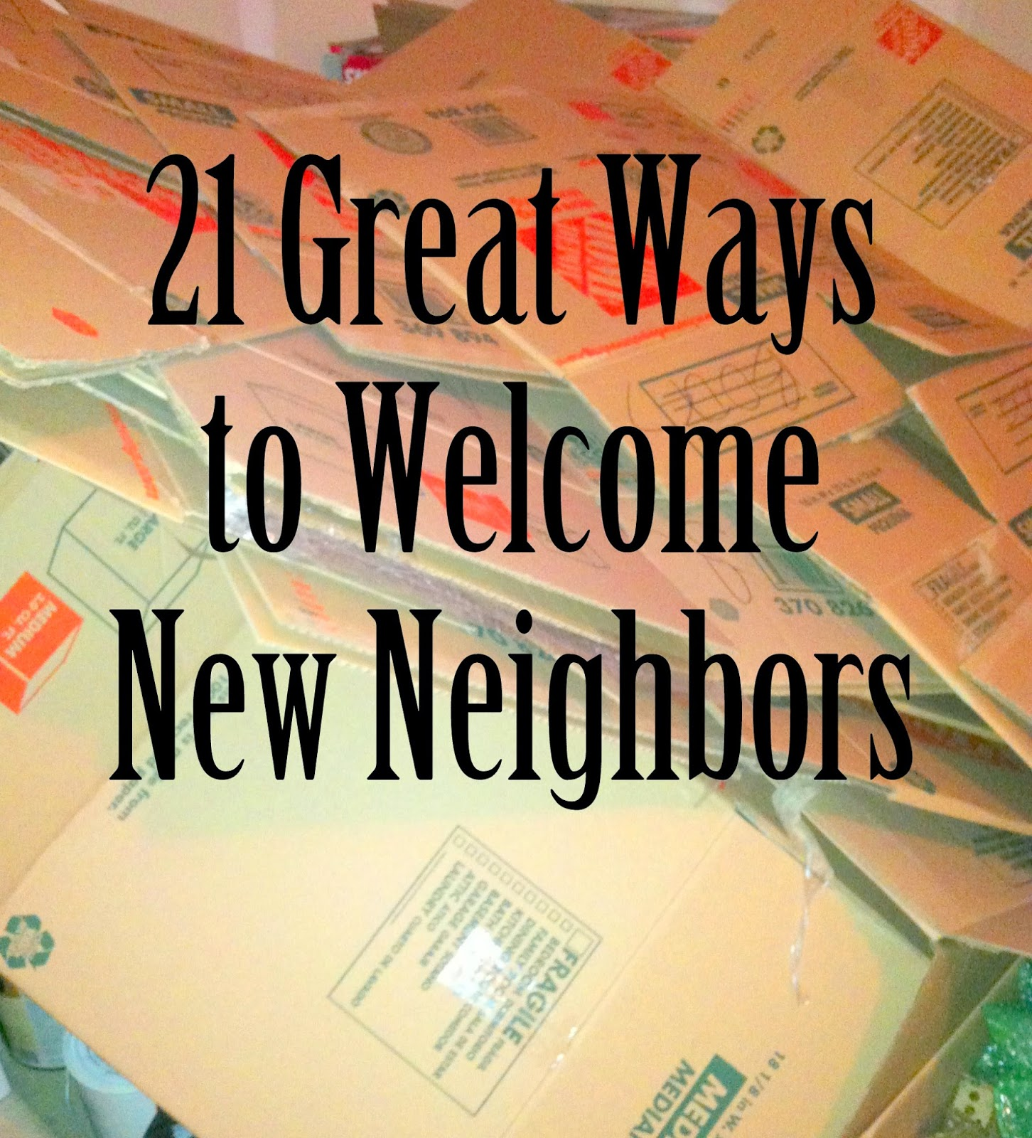 Welcome New Neighbor Gift Ideas