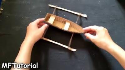 cara membuat kapal layar dari kardus