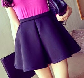 Short Blended Casual Mini Skirts