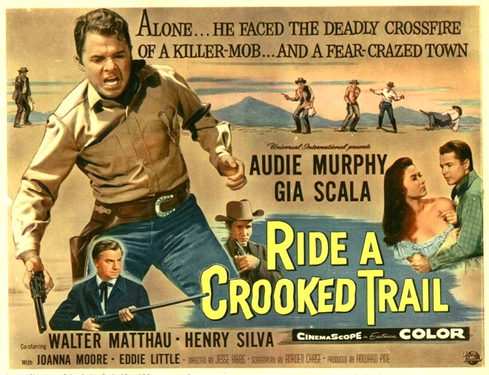 Jeff Arnold S West Ride A Crooked Trail Universal 1958