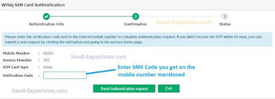 Send Authentication Request in Wathiq Absher