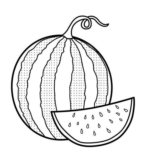 Tranh tô màu quả dưa hấu