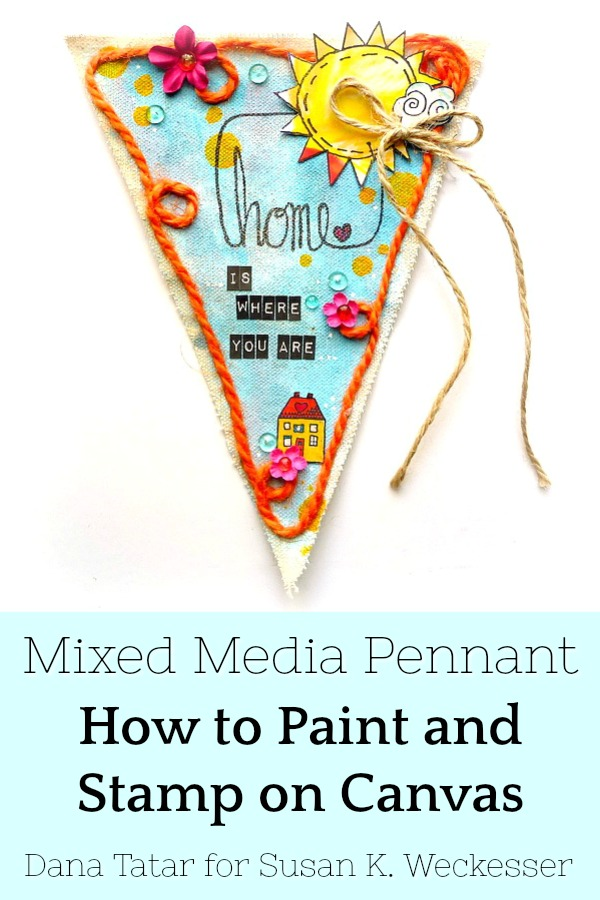 How to Paint and Stamp on Canvas