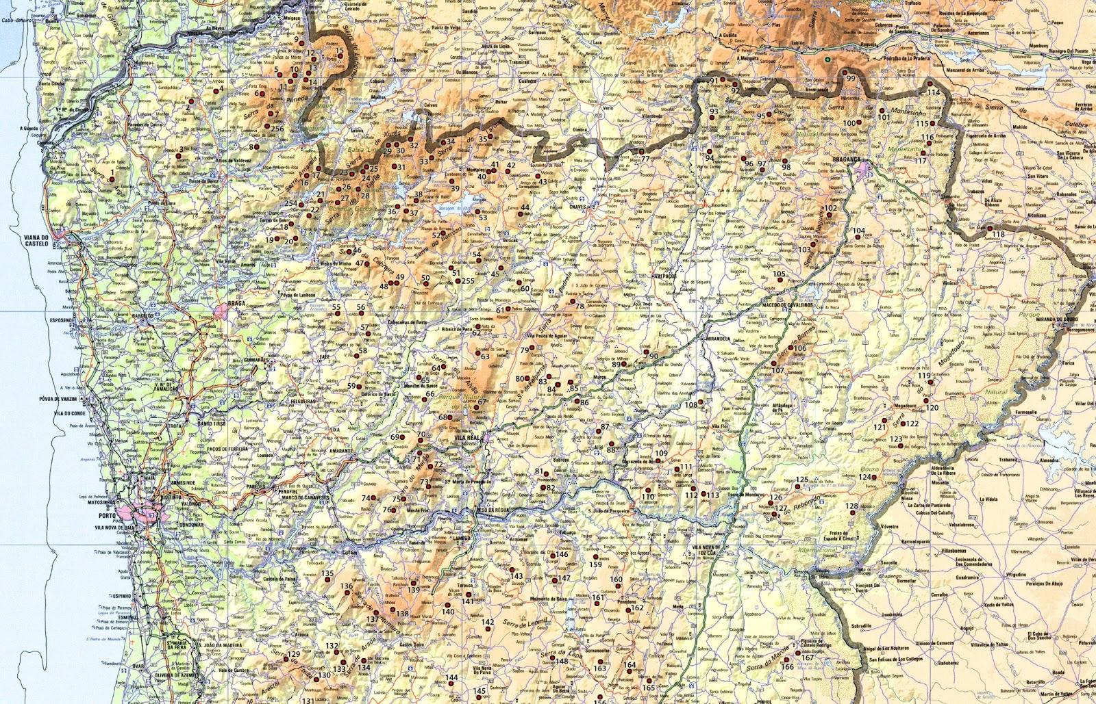 mapa das serras de portugal Mapa da localização das montanhas | Garcias   Montanhas de Portugal mapa das serras de portugal
