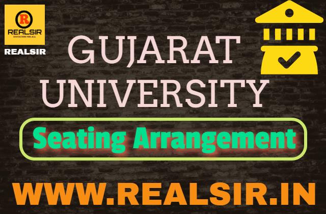 Seating Arrangement of Gujarat University