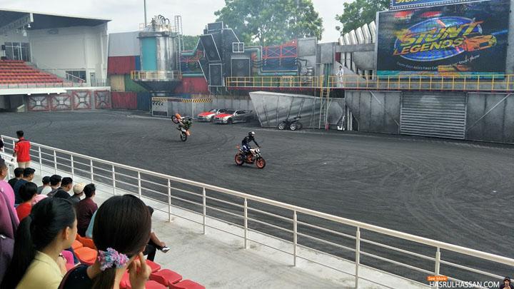 Gambar Aksi Stunt Legends Movie Animation Park Studios Perak