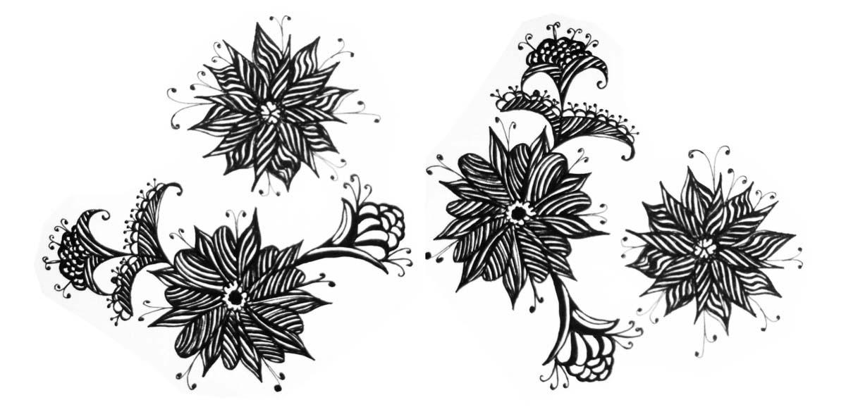 PURRFECT : DESIGNS: Flower pattern