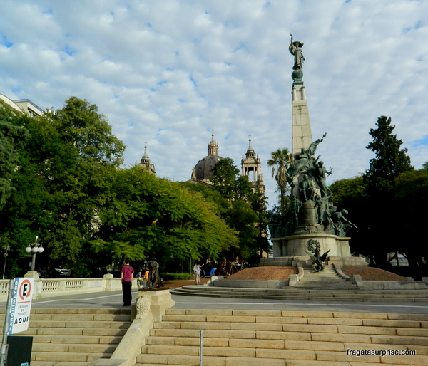 Monumento a Júlio de Catilhos, Praça da Matriz - Porto Alegre - RS