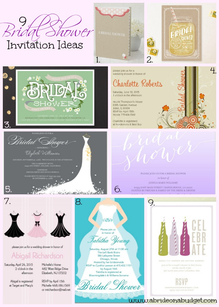 Bridal Shower Invitation Ideas A Bride On A Budget