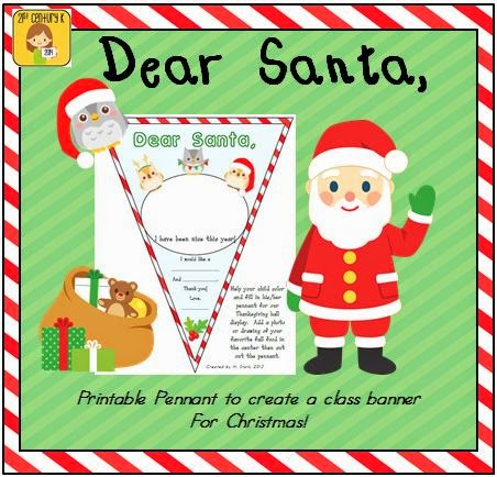 http://www.teacherspayteachers.com/Product/FREEBIE-Dear-Santa-Pennant-Banner-Worksheet-956740
