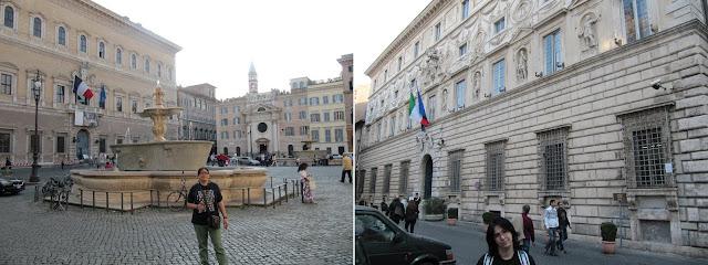 Palacio Farnese y  Palacio Spada en Roma