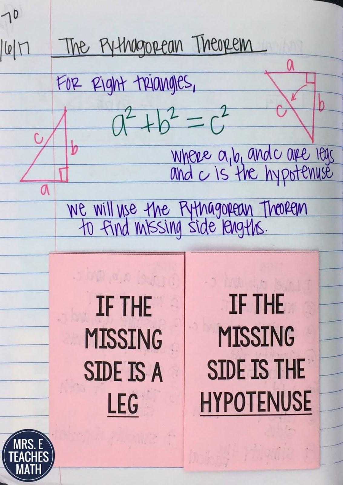 Pythagorean Theorem Inb Pages