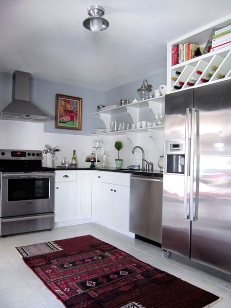 design+sponge+over+fridge+cab Shelving Above Fridge Kitchen Ideas on windows above fridge, lighting above fridge, cabinets above fridge, baskets above fridge,