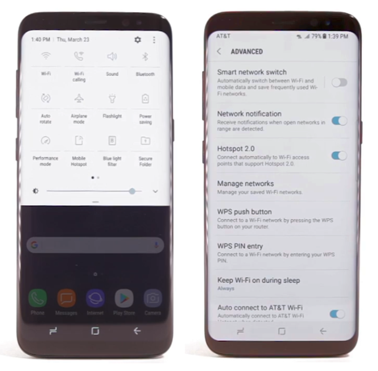 how to find settings on samsung galaxy s8