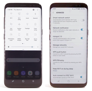 Samsung Galaxy S8 Advaced Settings