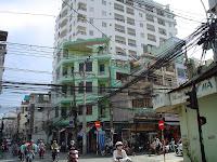 Cables en Vietnam. Saigon, Ho Chi Minh City
