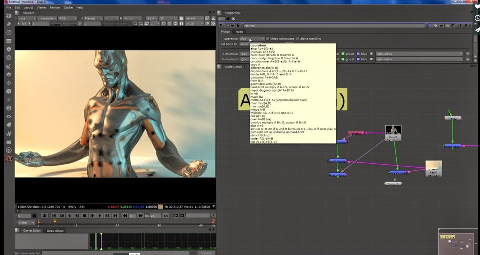 Nuke basic Compositing tutorial with Merge Node | CG TUTORIAL