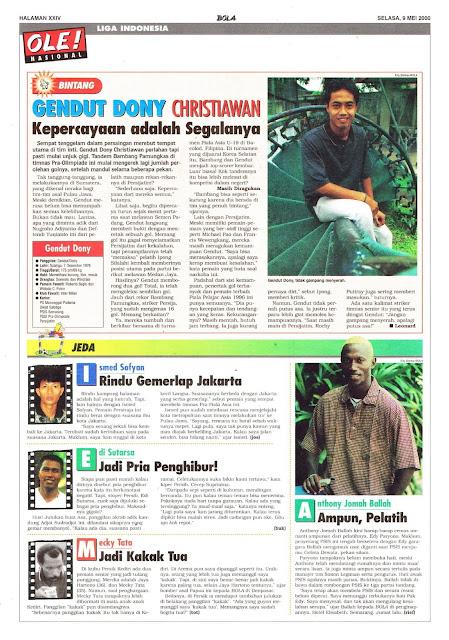 LIGA INDONESIA PROFIL BINTANG GENDUT DONY