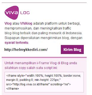 Cara Mengirim Artikel Blog keViva Log7