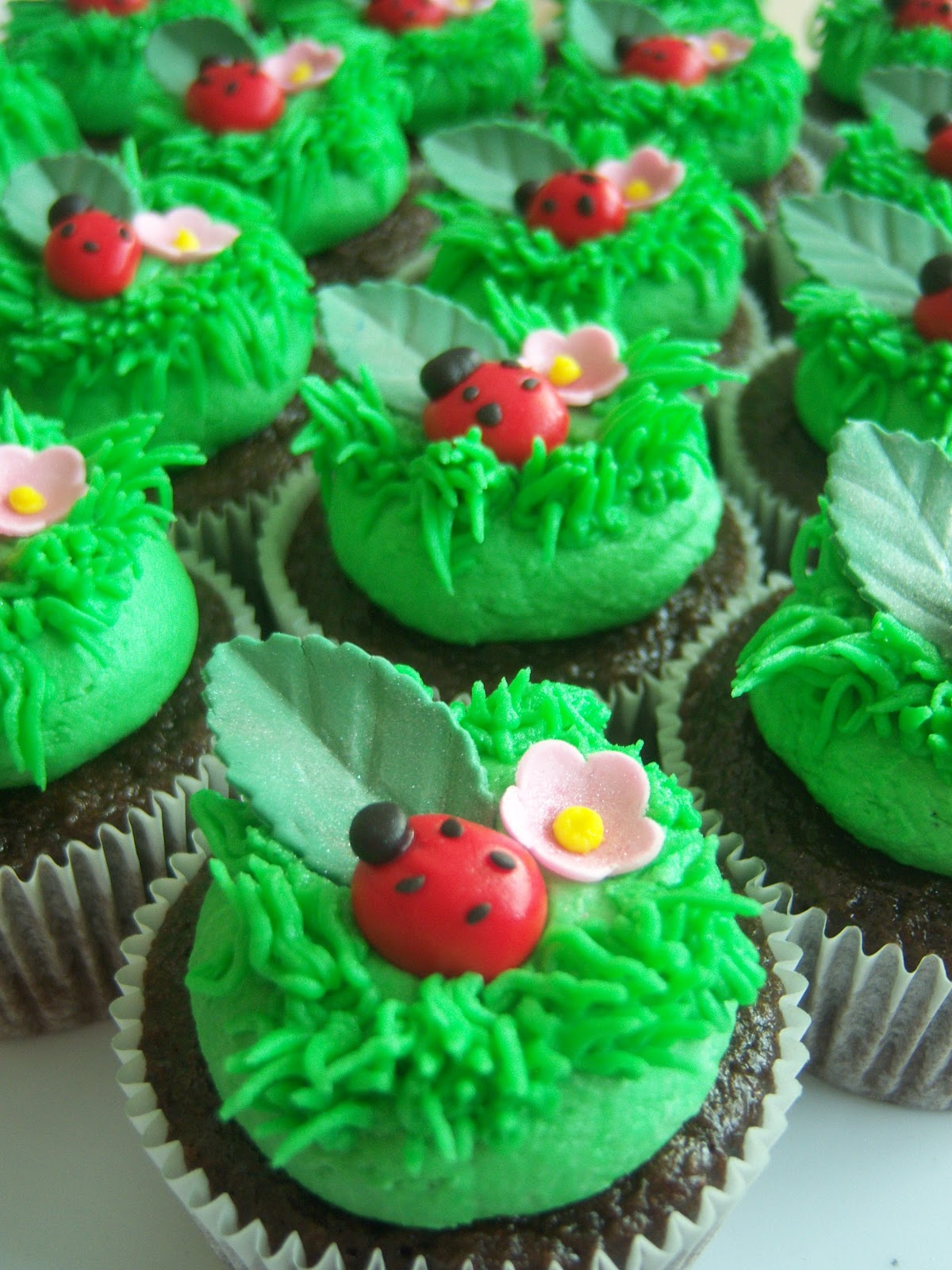 Creative Cakes By Angela Ladybug Cake and cupcakes