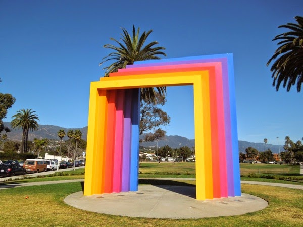 Chromatic Gate sculpture Herbert Bayer Santa Barbara