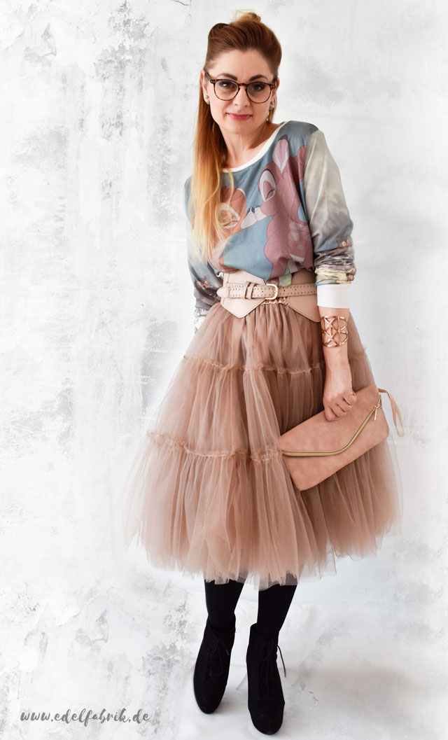 Tulleskirt, Sweatshirt, Look