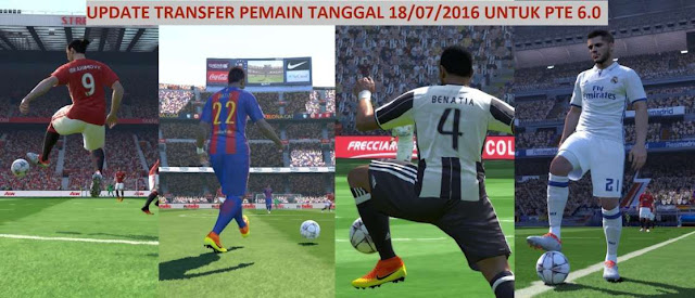PES 2016 Update Transfers For PTE Patch 6.0