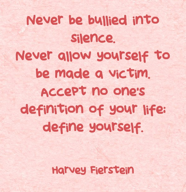motivational think tank never be bullied into silence never allow