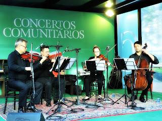Quarteto de Cordas da Orquestra Unisinos na Feira do Livro de Porto Alegre