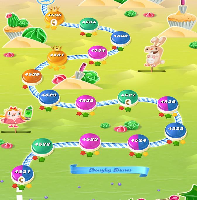 Candy Crush Saga level 4521-4535