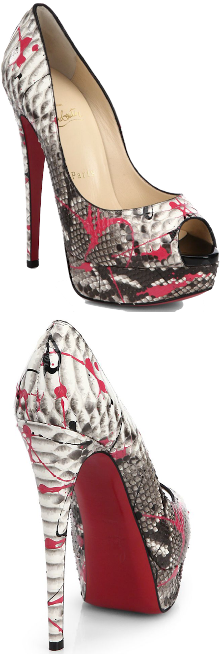 Lady Graffiti Python Christian Louboutin Pumps