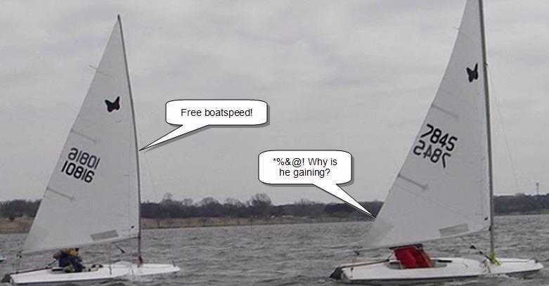 Butterfly Fleet 20 Free Upwind Boat Speed